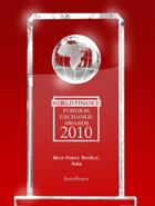 World Finance Awards 2010 – The Best Forex Broker in Asia